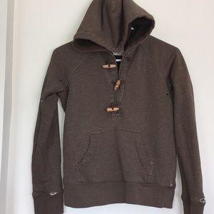 J Crew thick  brown hoodie XS kangaroo